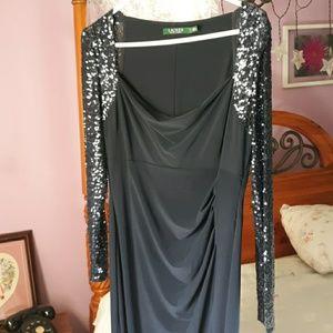 Ralph Lauren navy gown
